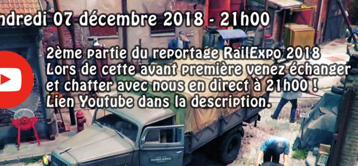 1ère diffusion vendredi consacrée à RailExpo 2018 (2ème partie)