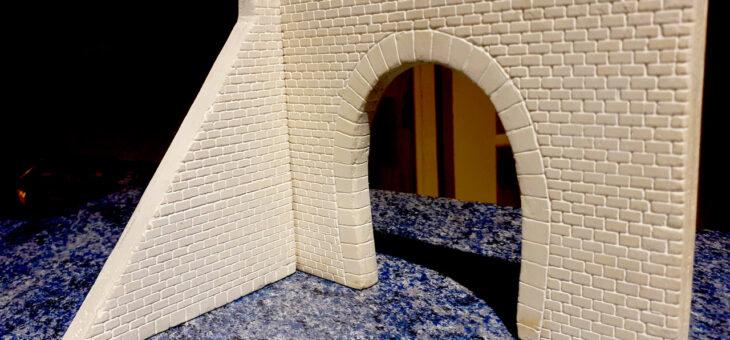 Gravure d'une entrée de tunnel