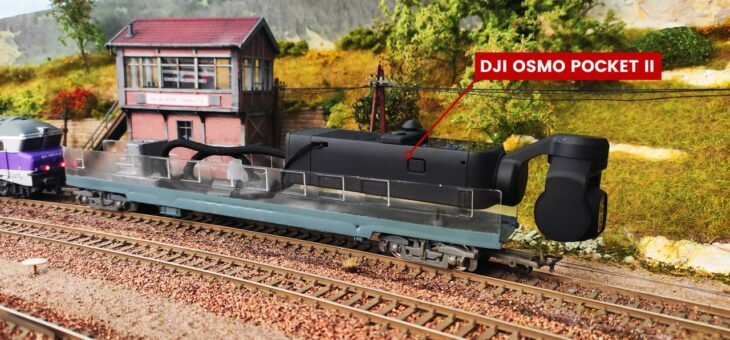 Un wagon caméra avec DJI Osmo Pocket 2